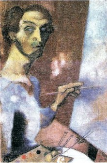 International Artists | Self Portrait at the Easel 1914 by Marc ...