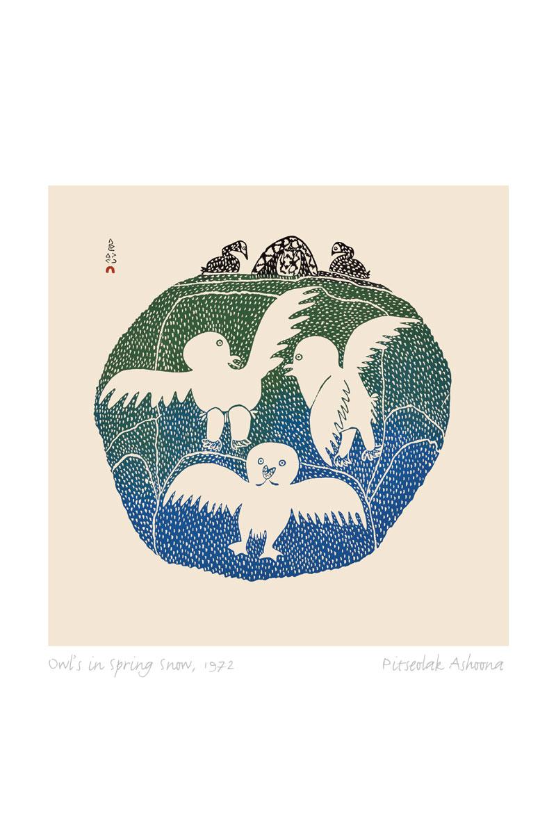 Inuit Artists | Owl In Spring Snow | 1 (*) Star | Matting ...